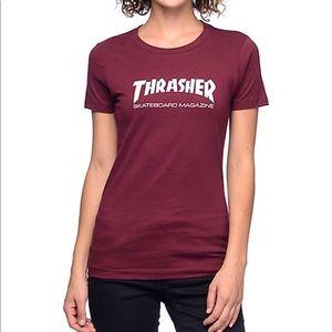 Thrasher Tops - Red Thrasher Shirt (Womens) 233f97cf2